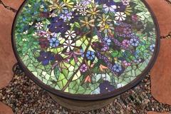 "Palo Alto Garden Fire Pit Table, 2014 – glass on glass in custom steel frame – 24"""
