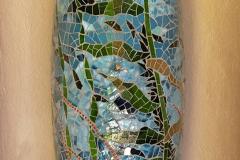 """Kelp Forest  (1of 2) – 2018 – glass on custom concrete substrate – 10"""" x 36"""""""