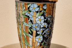 """Bamboo Water Feature - 2015 - glass on clay 14.5"""""""