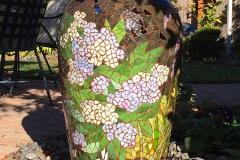 "Carol's Garden – 2014 – glass on clay fountain – 30"""