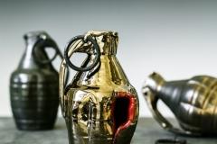 "Hand Grenades, ceramic, 5"" x 3.5"" x 3"""