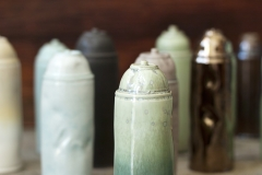 "Spray Cans, ceramic, 8"" x 2.75"" x 2.75"""