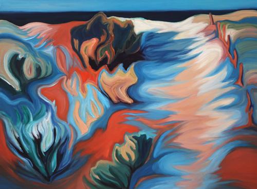 Jill Logan Wild Blue Shadows Walk to the Beach 30 x 40 MEDIA